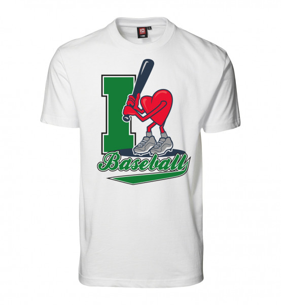 "T-Shirt ""I Love Baseball"" for Gents"