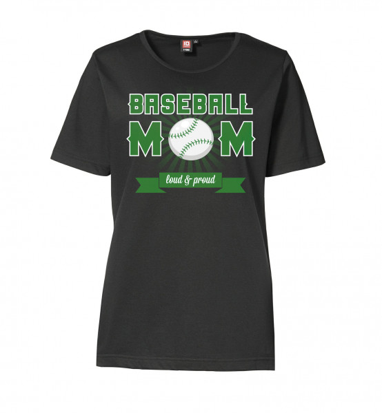 "T-Shirt ""Baseball Mom"" for Ladies"