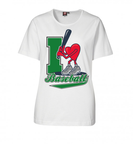 "T-Shirt ""I Love Baseball"" for Ladies"